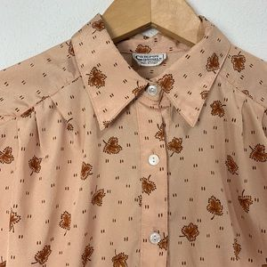 Vintage Tops - Vintage 1970s autumn button down tunic top M